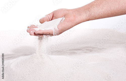 Sand running through hand Poster