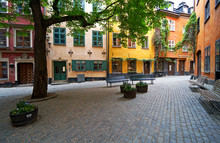 Stockholm Old Town Square In S...