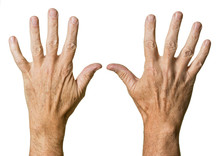 Pair Of Senior Caucasian Hands