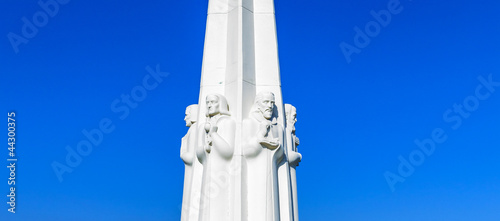 Canvastavla Astronomers monument at the Griffith Observatory in Los Angeles,