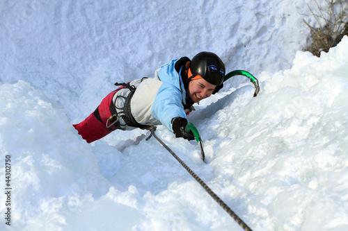 In de dag Alpinisme Ice climbing the North Caucasus.