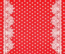 Red White Polka Dot Background...