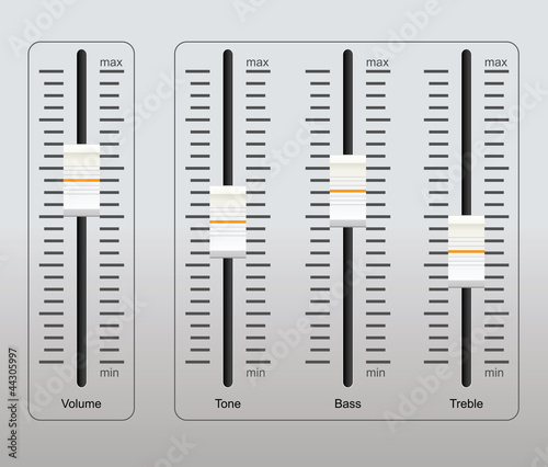 Fotografija sound control panel
