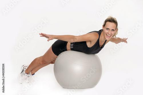 Foto op Canvas Gymnastiek Frau mit Gymnastikball