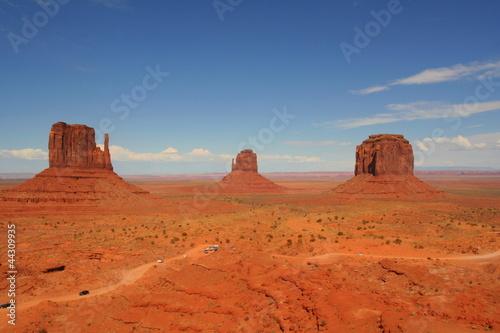 Stickers pour porte Orange eclat Monument Valley