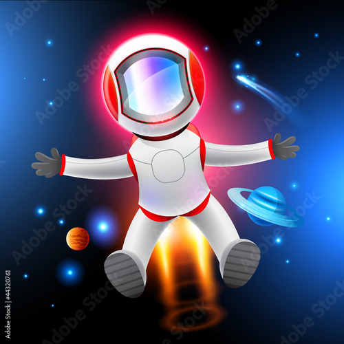 Cadres-photo bureau Cosmos Vector Astronaut