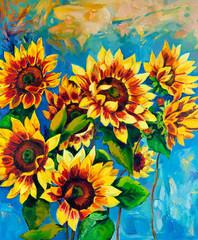 Fototapeta na wymiar Sunflowers