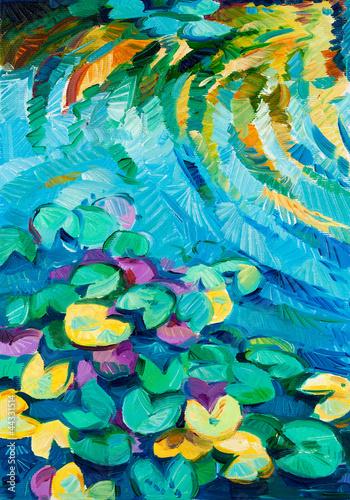 Nowoczesny obraz na płótnie Water Lily