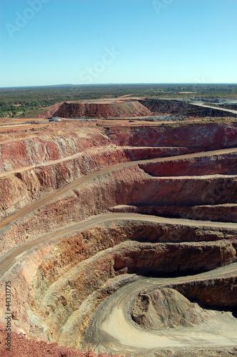 Cobar gold mine Australia Tablou Canvas