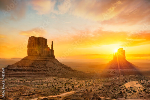 Poster de jardin Melon Monument Valley