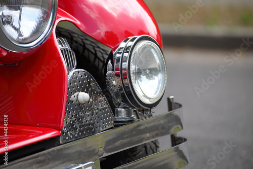 Staande foto Rood, zwart, wit cropped image classic old carchrome