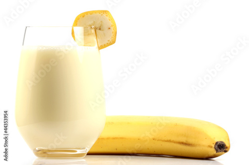 Foto op Plexiglas Milkshake Bananenmilch