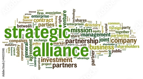 Strategic alliance concept in tag cloud #44355148