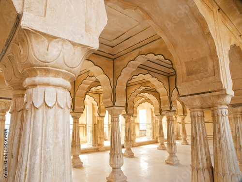 Fototapety, obrazy: Columned hall of Amber fort