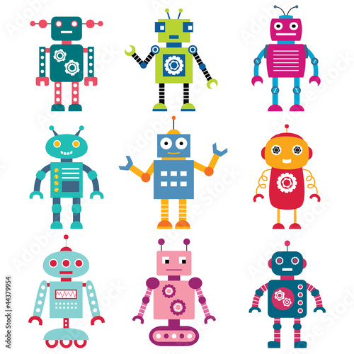 Foto op Canvas Robots Robots set