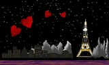 Fototapeta Wieża Eiffla - Paryż nocą
