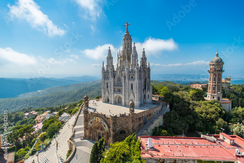 In de dag Barcelona birdview on church