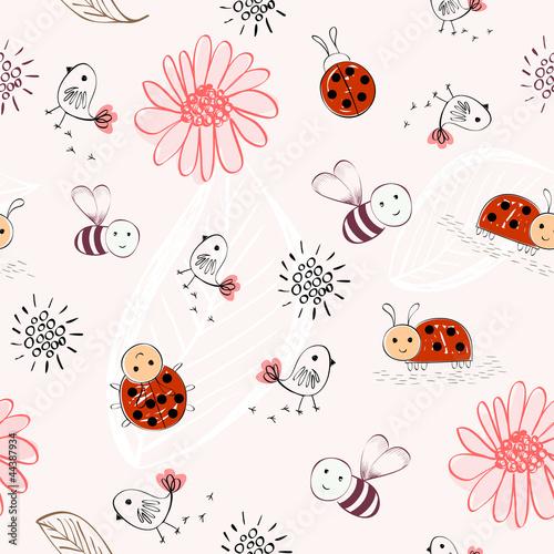slodkie-dzieci-doodle-recznie-narysowac-wzor