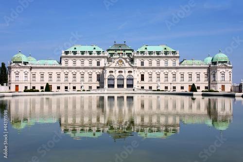 La pose en embrasure Vienne Baroque castle Belvedere, Vienna, Austria