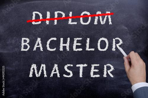 Photo Diplom Bachelor Master Tafel