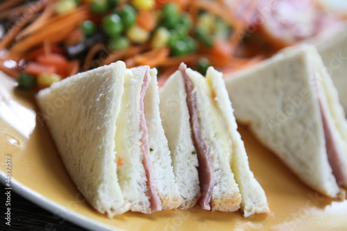 Canvas Prints Fish sandwich ham and cheese