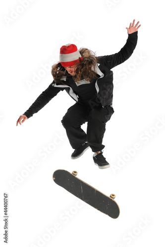 Fotografie, Obraz  Skateboarder Jumping