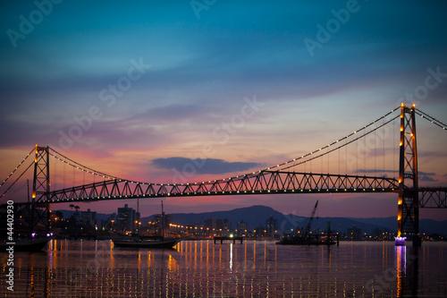 Canvas Prints Bridge Bridge at Sunset