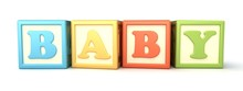 Alphabet Building Blocks That Spelling The Word Baby