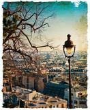 paryskie uliczki w stylu retro - 44409952