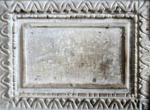 Old Marble Slab With Carved Fr...