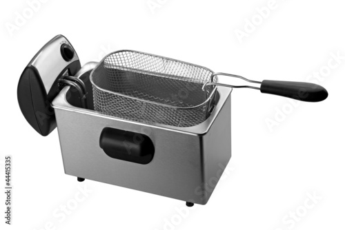 Fotografía  deep fryer isolated on white background ( clipping path)