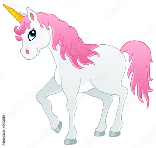 Deurstickers Pony Fairy tale unicorn theme image 1