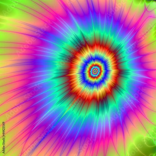 Poster Psychedelique Tie dye Color Explosion