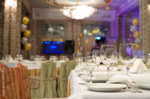 In de dag Buffet, Bar Banquet table in a restaurant