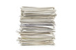 canvas print picture - Pile of papers on white