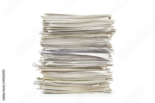 Cuadros en Lienzo Pile of papers on white