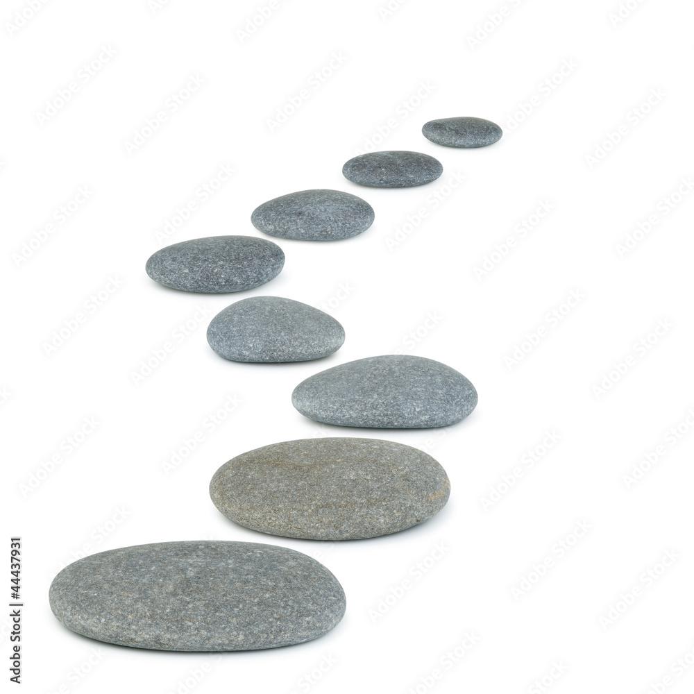 Fototapety, obrazy: Row pebbles