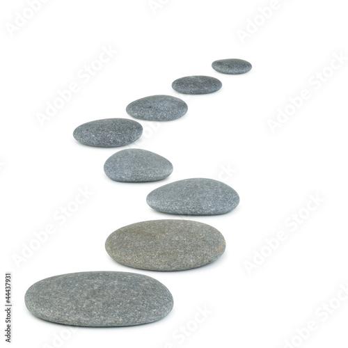 Obraz na plátně  Row pebbles