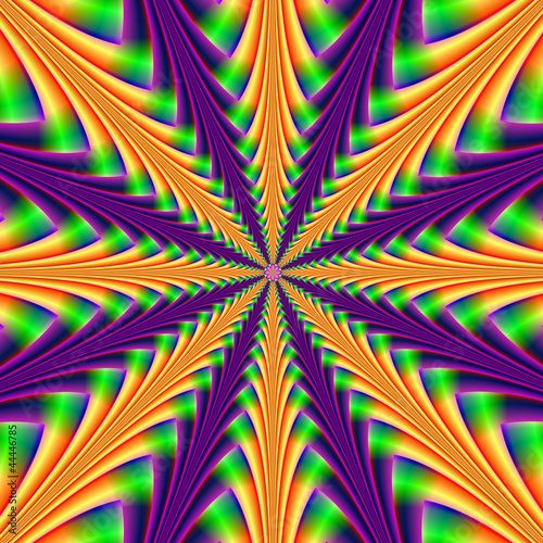 Poster Psychedelic Centerpoint in Purple and Orange