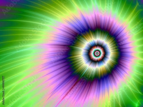 Foto op Canvas Psychedelic Color Explosion Tie-dyed