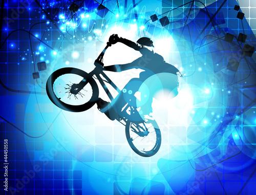 Valokuva BMX cyclist