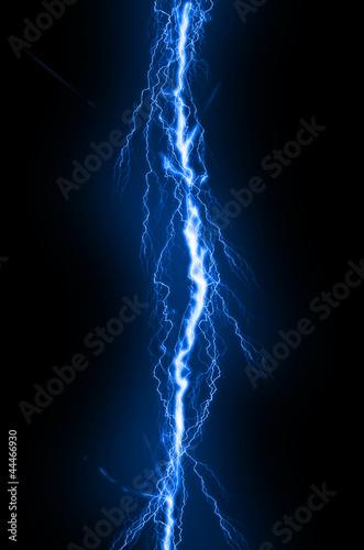 Obraz Lightning flash on black background - fototapety do salonu