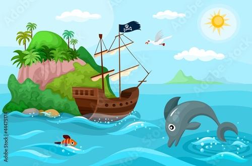 Photo sur Toile Pirates pirate ship