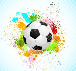 Fototapeta Sport Grunge background with ball