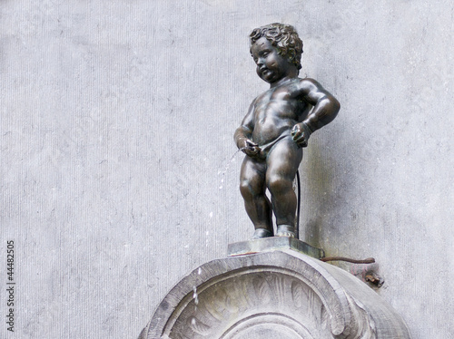 Foto op Canvas Brussel Manneken Pis in Brüssel