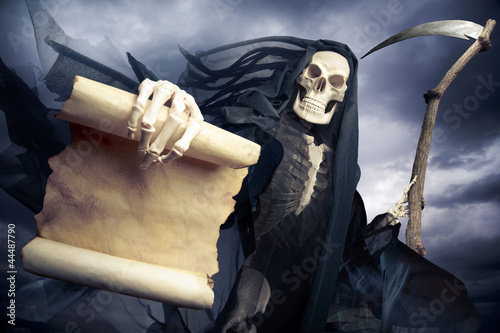 Grim reaper/ angel of death Canvas Print
