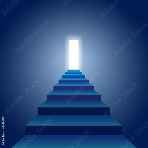 Stairs to the Light Wall mural