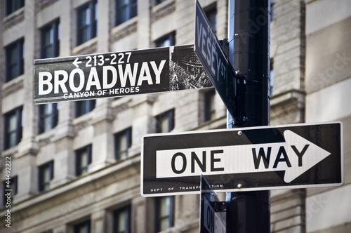 Panneau Broadway à New-York - 44492222