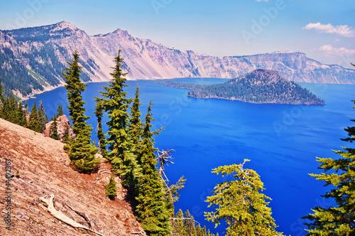 Carta da parati Beautiful view of crater lake