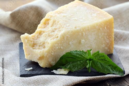 Fotografie, Obraz  Parmesan cheese - hard Italian cheese